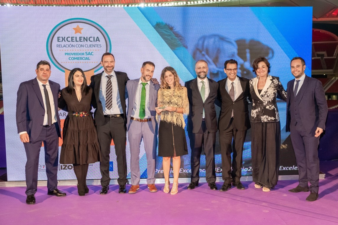 Transcom Spain wins the Excellence in Customer Relations Award for the Best Supplier in Commercial Customer Service