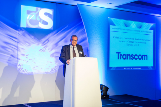 Transcom honored at Frost & Sullivan's Best Practices Awards in London 2015_2
